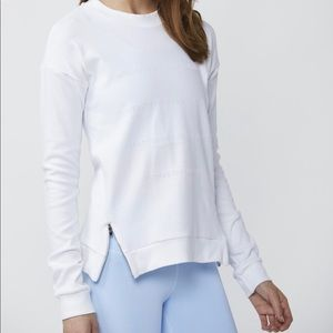 DYI Inspired Flocked Sweater in White